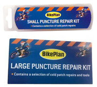 Bike Puncture Repair Kit Bicycle Tools Cold Patch Glue BikePlan Large + Small