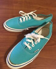 Vintage 80s Deadstock Vans Shoes 6 Mens 7.5 Women Turquoise Made In Usa skate