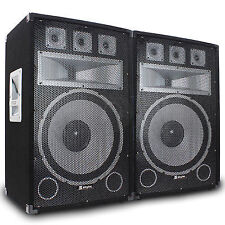 "2x Vonyx 15"" Tx15 Professional DJ PA Party Speakers Sound Setup 1000w Ssc2292"