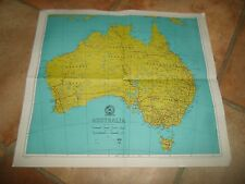 "Map - Australia - 1961 Measures 13.5"" x 12"""