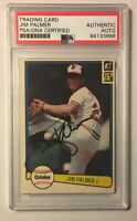 1982 Donruss JIM PALMER Baseball Card PSA/DNA Baltimore Orioles