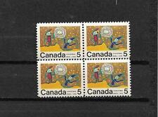 pk37163:Stamps-Canada #522i Rare Christmas 5 cent Center Block of 4 - MNH