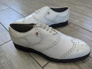 unworn FOOTJOY golf shoes CLASSICS white leather 11 C style 55160 usa made