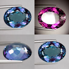 IF 9 cts Huge Oval (14x10 mm) Lab Corundum Color Change Alexandrite AAA A52