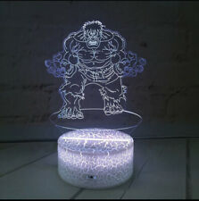 HULK SUPERHERO AVENGERS 3D LED Night Light Touch Table Desk Lamp Gift 7 Colour