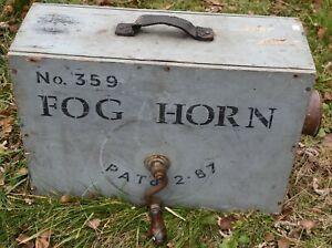 Antique 1887 Ships Fog Horn