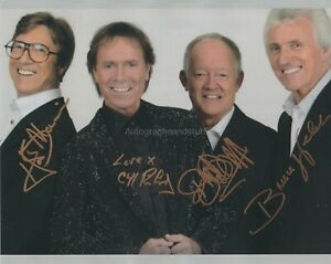 Cliff Richard and The Shadows HAND Signed 8x10 Photo Hank Marvin, Autograph M
