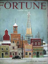 FORTUNE Jan. 1950 1950 Alberta oil boom, Unions in Toledo, French exports, Joske
