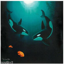 """WYLAND """"IN THE COMPANY OF ORCAS"""" NEW GICLEE ON CANVAS with Certificate"""