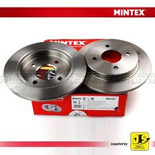 2X MINTEX REAR BRAKE DISCS MDC442 FOR FORD FIESTA FOCUS FUSION SCORPIO RENAULT