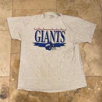 Vintage New York Giants Chalkline NFL Football T-Shirt 90s Size XL Single Stitch