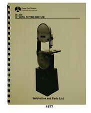 "Rockwell Delta 14"" Metal Bandsaw 28-300, 28-380 Instruction & Parts Manual #1877"