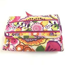 Vera Bradley Wallet Trifold Pink Yellow Floral Multicompartment Clementine