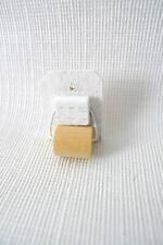 Miniature DOLLHOUSE Toilet Paper Holder Wood Bathroom Decor