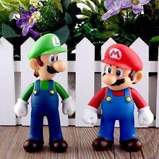 Enfants 2 pièces Nintendo Super Mario Bros Brothers Luigi Jouet PVC Figurine
