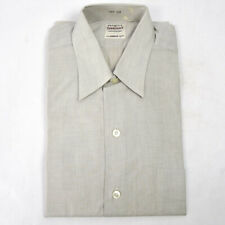 Vintage 50s Penneys Towncraft Shirt S Deadstock Sanforized Woven Gray Kinglo