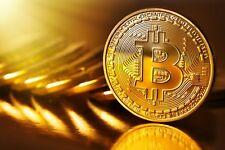Bitcoin moneda fisica coleccionable, bañada en oro 28,3gr, 40mm. Monedas