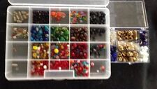 Lot of Glass and Plastic Beads~Jewelry Making~Crafts~Multi Colored~Fast Shipping