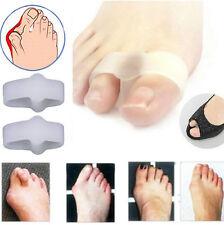Women Gel Toe Straighteners Separator Bunion Corrector Pain Relief  TOOL 2 Hole