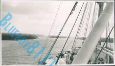 Liner MV Reina del Pacifico Pacific navigation Line entering  Panama Canal 1949