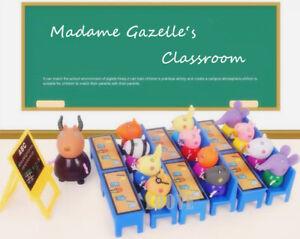 Classroom Play Set + 15 Peppa Pig Figures Children Plastic Kids Gift Toy Xmas