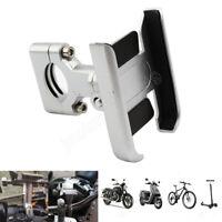 Silver Aliminum Motorcycle MTB Bike Bicycles Handlebar Phone Holder For Phone