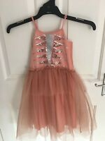 Girls Size 7 Art Deco Style Formal Party Flower Girl Dress Cotton On