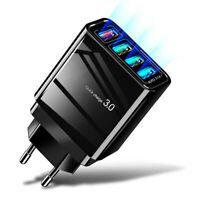 4 Port Fast Quick Charge QC3.0 USB Hub Wall Charger Power Adapter US EU Plug TWS