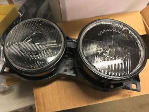E34 Headlights Pair HELLO DARK style Headlight Lights Smoke Smoked Black M5 BMW