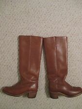 FRYE Campus brown leather boots Size 6 white label 6505 Vintage