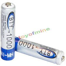 2x AAA battery batteries Bulk Nickel Hydride Rechargeable NI-MH 1000mAh 1.2V BTY
