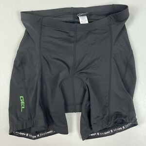 "Canari Womens Pro Gel Padded Cycling Short Black 7"" Inseam Size Large NWT"