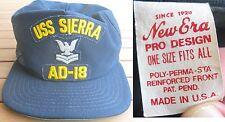 USS SIERRA AD-18 - Berretto HAT anni 80/90 New Era Pro Design ORIGINAL Vintage