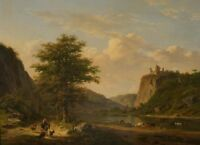 """perfact 36x24 oil painting handpainted on canvas """"Pastoral landscape""""@N10967"""