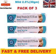 3 X Benzoyl Peroxide Gel 2.5% Persol AC for Acne Vulgaris Spots Blackhead -30g