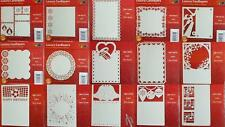 Pack 3 Cardlayers Card Making Laser-cut Christmas Flowers Men Butterfly Wedding