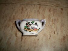 DISNEY1930's hand painted MICKEY MOUSE Small SUGAR BOWL from tea set row boat