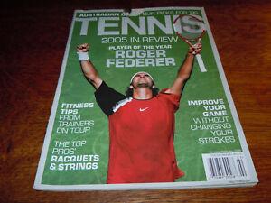 """VINTAGE JANUARY/FEBRUARY 2006 """" TENNIS """" MAGAZINE - ROGER FEDERER COVER"""