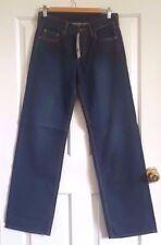 New FCUK UK8 Straight Leg Mid Waist Dark Wash Vintage Style Jeans W28 L32