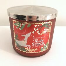 Bath & Body Works Tis The Season 3-Wick Candle Christmas