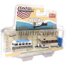 GREENLIGHT 51114 B VOLKSWAGEN SAMBA BUS & 1964 WINNEBAGO 216 TRAVEL TRAILER 1/64