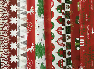 Christmas Wrapping Paper, 2, 5 sheets Present Gift Wrap Modern Xmas Design