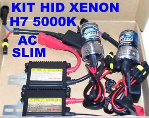KIT HID XENON H7 5000K 35W CENTRALINE AC SLIM BALLAST LUCI XENO 5000°K fari 12V