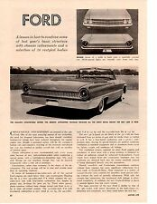 1961 FORD GALAXIE ~ ORIGINAL 2-PAGE NEW CAR PREVIEW ARTICLE / AD