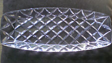 Vintage LEAD CRYSTAL DRESSING TABLE/VANITY  DISH, 27cm long  - VGC