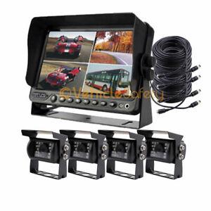 "7"" DVR Car Monitor Reverse Backup Camera System For RV Horse Trailer Truck Van"