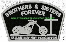 BROTHERS & SISTERS FOREVER MEMORIAL BIKER PATCH