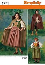 SIMPLICITY SEWING PATTERN MISSES & MENS COSTUME SIZES 8/18  XS/XL  1771