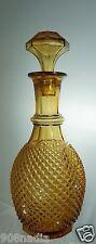 VINTAGE AMBER GLASS WINE/ VODKA/ WHISKEY SPIRIT DECANTER & STOPPER