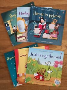 Usborne fun Phonics Readers x 6 books - learn to read home schooling